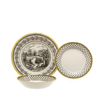 Set 18 piatti ceramica Halcyon Black