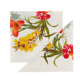 Set of 2 floral napkins in 100% cotton