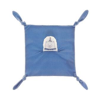 Polka dot micro-fleece toy with teddy bear head