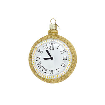Hand-decorated clock decoration