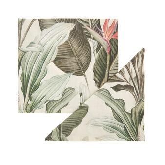 Set 2 tovaglioli puro cotone stampa giungla