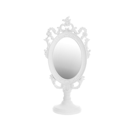 Baroque-style mirror with hand-finished frame and base