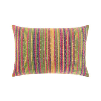 Striped jacquard cushion