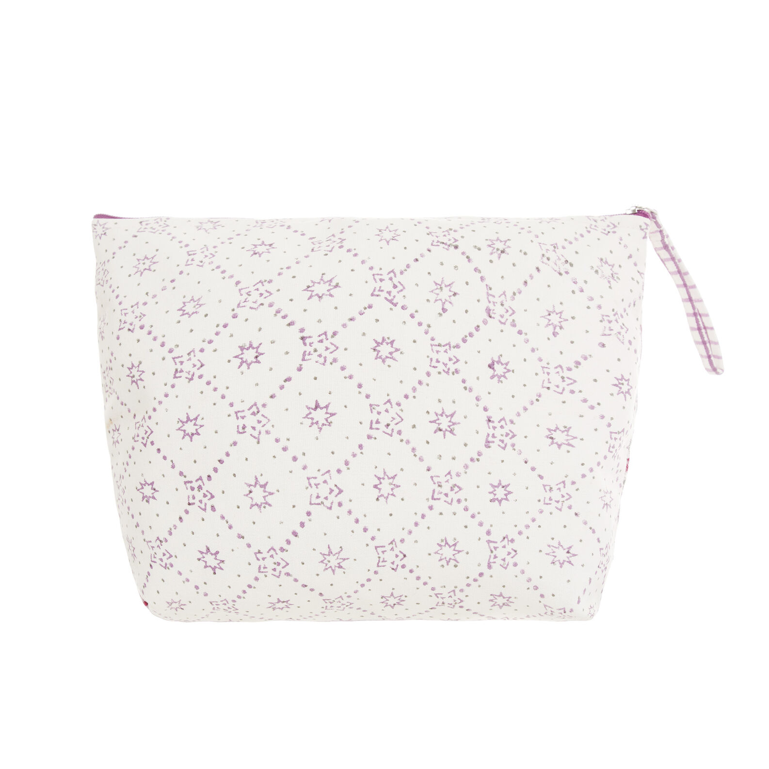Beauty case cotone ricamato