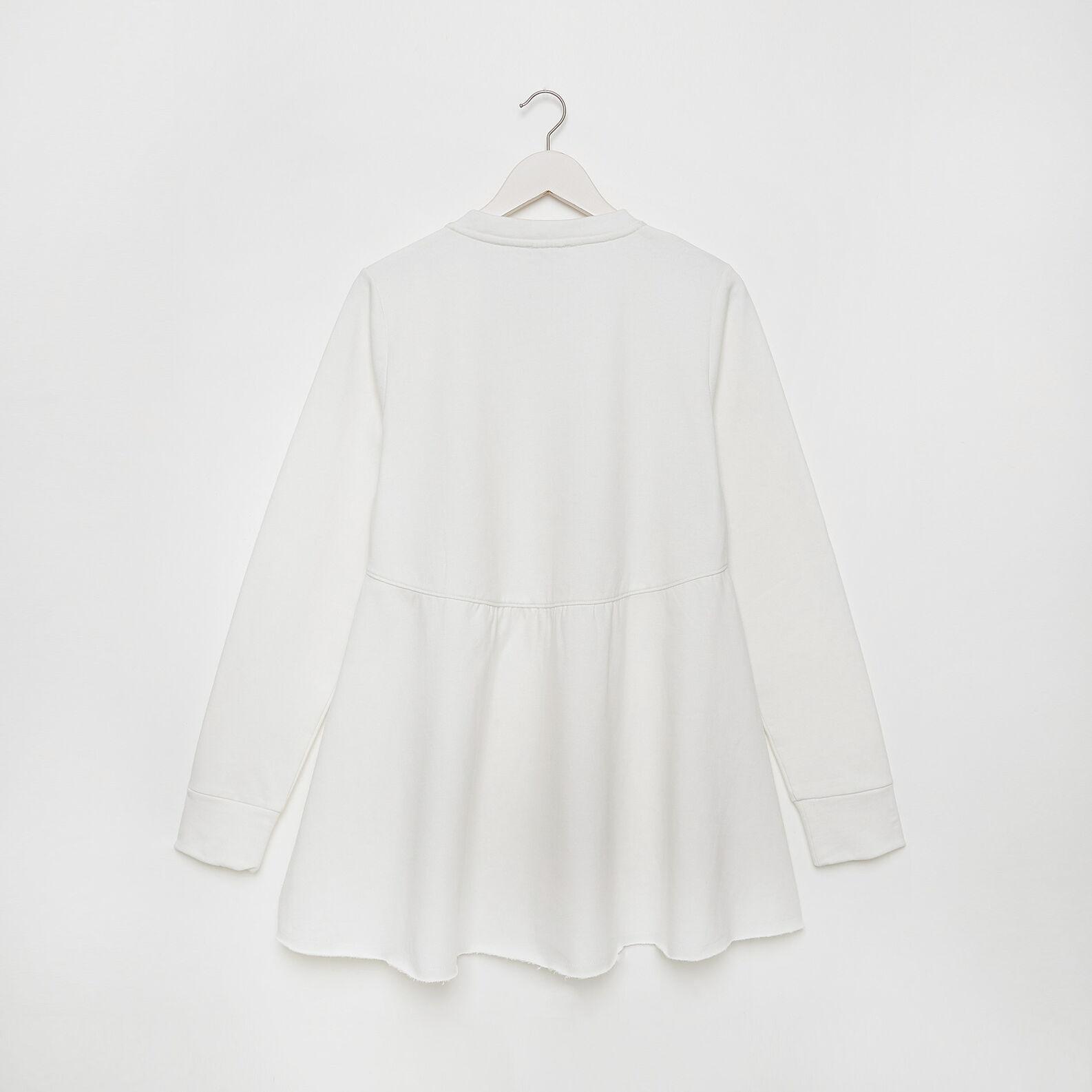 Cotton blend sweatshirt with flounce