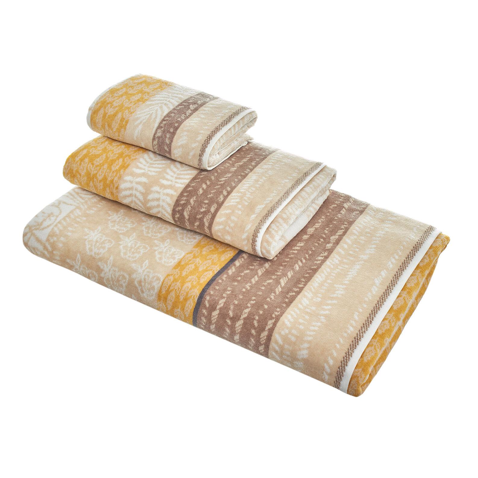 Asciugamano velour puro cotone righe patchwork