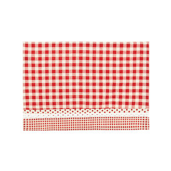 100% cotton table mat with check print