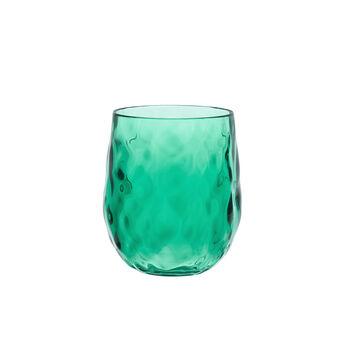 Bicchiere acqua sfaccettato plastica MS