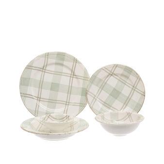 Linea tavola in ceramica tartan