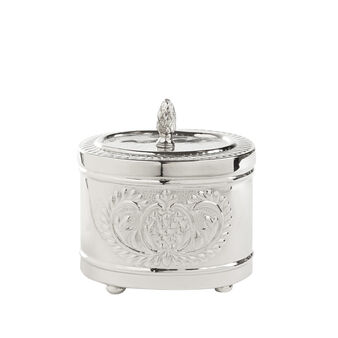 Engraved cotton wool container