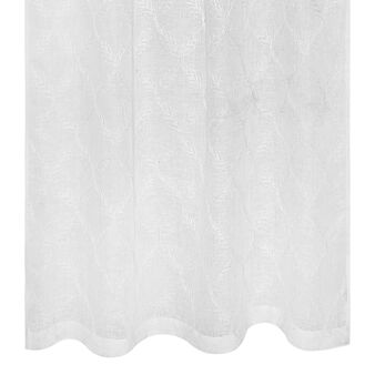 100% linen embroidered leaf pattern curtain