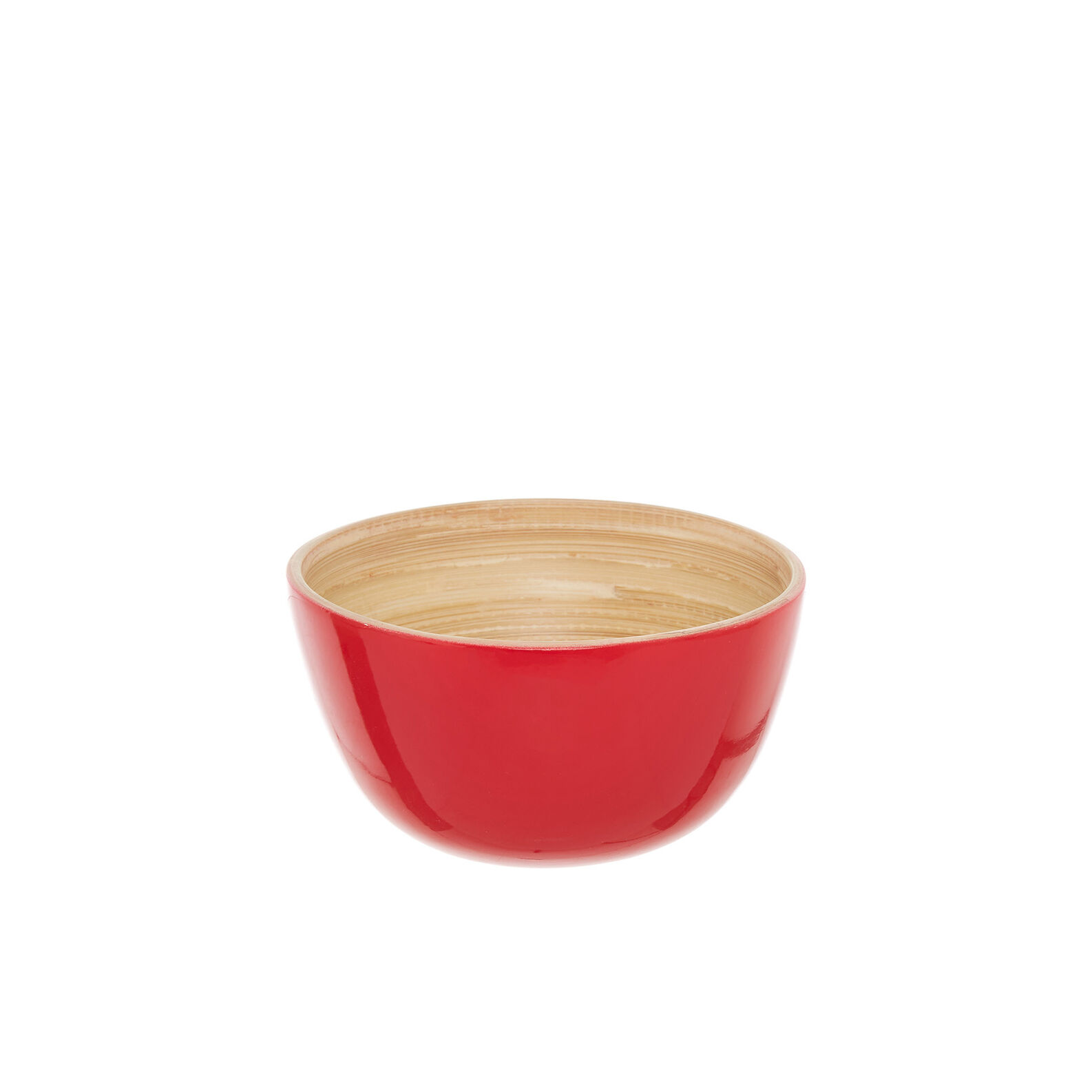 Small bowl in two-tone bamboo