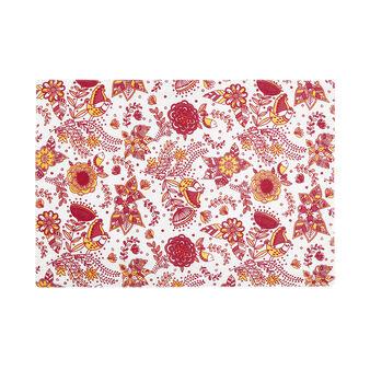 100% cotton table mat with mandala bird print
