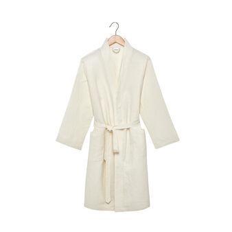 Linen blend dressing gown
