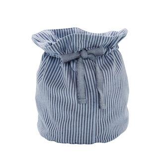 Round striped cotton basket