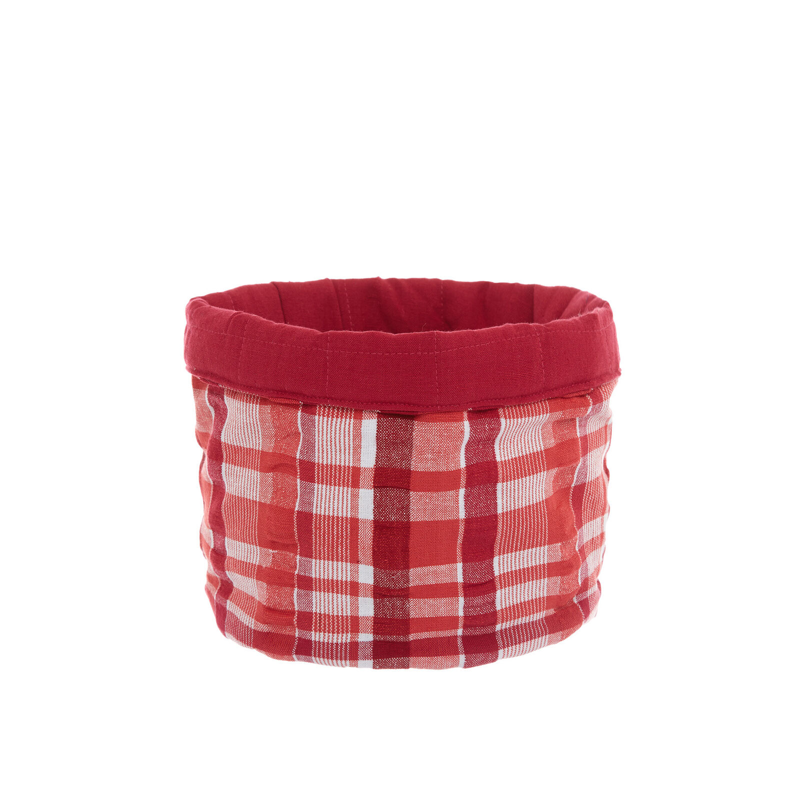100% cotton basket with check pattern