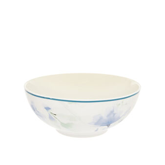 Bowl in new bone China with floral decoration