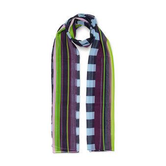 Koan multicoloured striped scarf