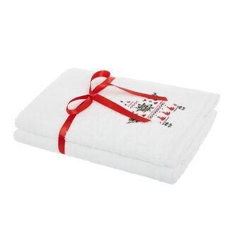 Set 2 asciugamani ricamo stella