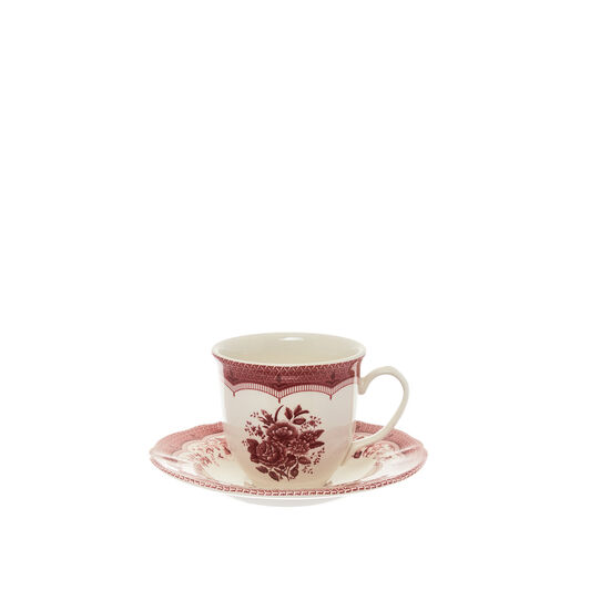 Victoria ceramic coffee cup with floral decoration