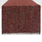 Table runner in tweed with fringing