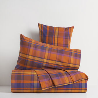Yarn dyed 100% cotton duvet cover with tartan pattern