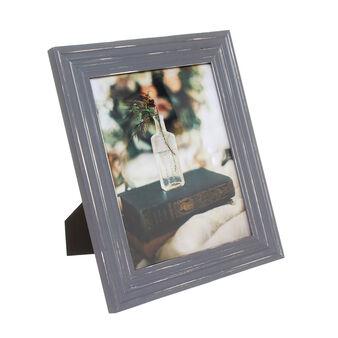 Photo frame in vintage-effect wood