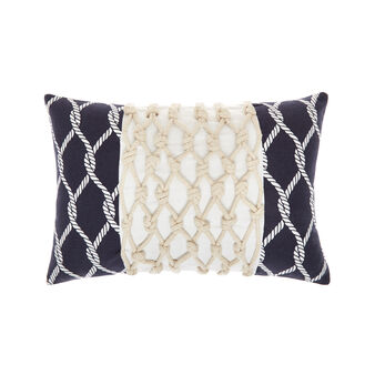 Cotton cushion with cord 35x50cm