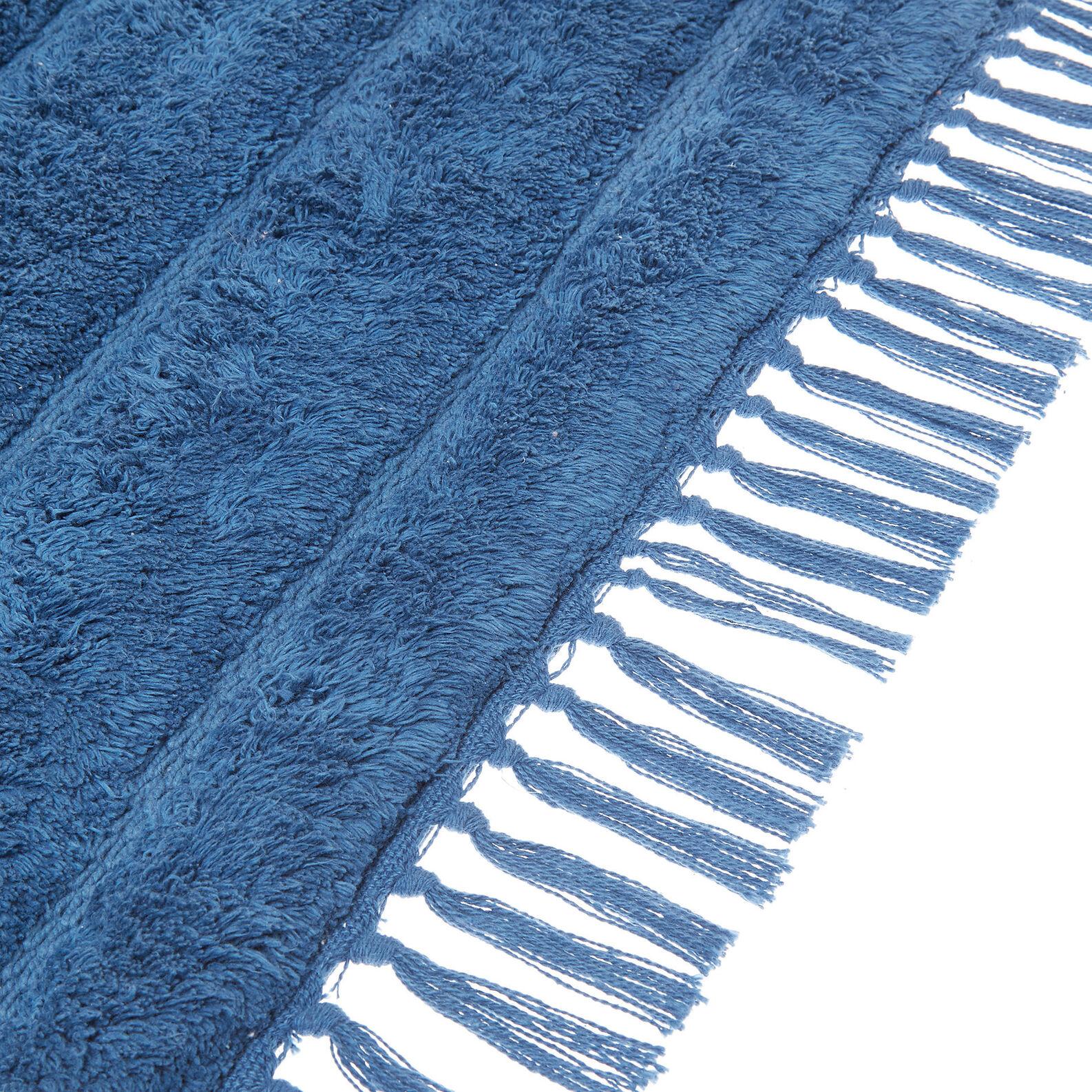 Tappeto bagno puro cotone con frange