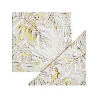 Set 2 tovaglioli twill di cotone stampa foglie