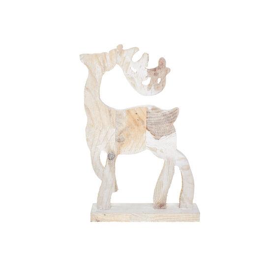 Wooden reindeer decoration