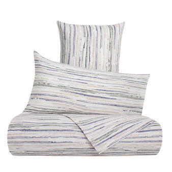 Striped duvet cover in 100% cotton percale