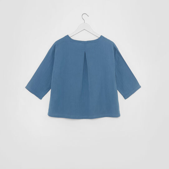 Solid colour top in gauzed cotton