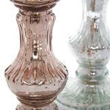 Handmade glass candlestick