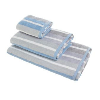 Towel in 100% Portuguese cotton with stripes