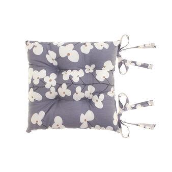 Cuscino sedia puro cotone floreale