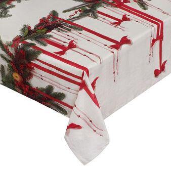 Tovaglia puro cotone decorazione natalizia