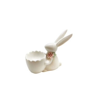 Porcelain rabbit egg cup