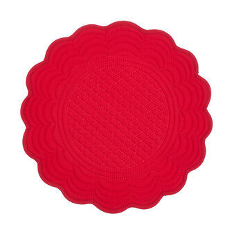 100% cotton round quilted table mat