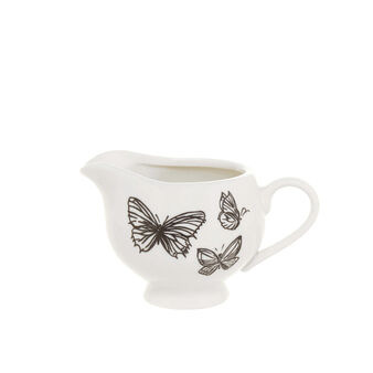 Milk jug in New Bone China with butterflies