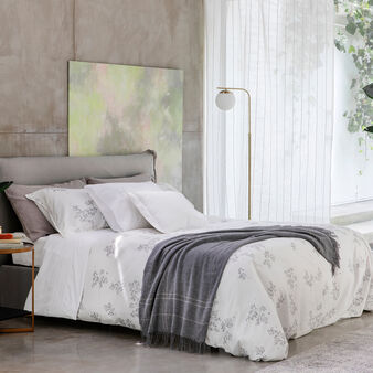 Portofino cotton satin duvet cover with ramage motif