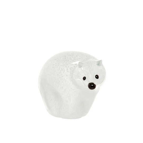 Handmade coloured glass bear