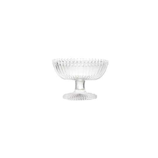 Fluted glass bowl