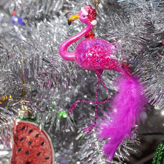 Hand-decorated flamingo decoration