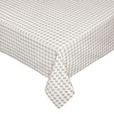 Stars openwork and woven table cover with lurex