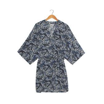 Paisley print robe.
