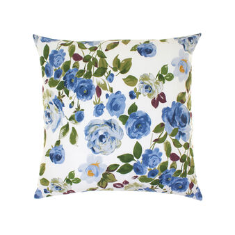Roses cushion in cotton percale