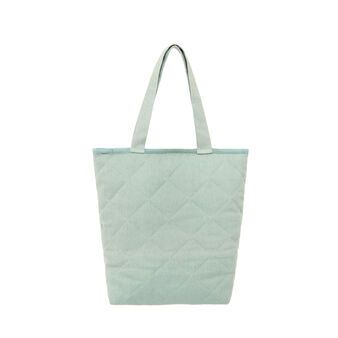 Shopping bag with quilted fabric
