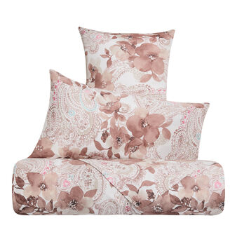 Cotton satin bed sheet set with paisley pattern