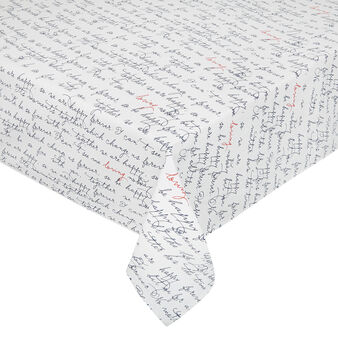 Cotton twill tablecloth with lettering print